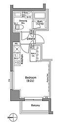 ザ・パークハビオ上野御徒町 3階ワンルームの間取り