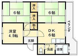 江尻マンション[302号室]の間取り