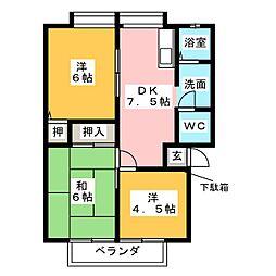 サンビレッジ原 B棟[2階]の間取り