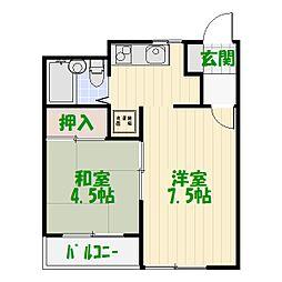 サンハイツ亀有[7階]の間取り