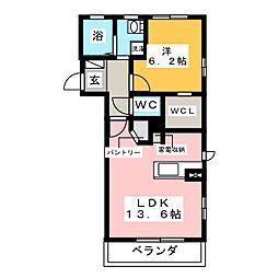 ウィステリアC棟[1階]の間取り