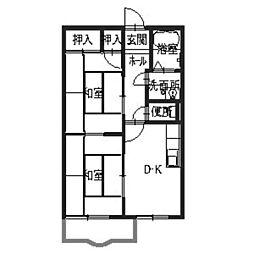 フレグランス北神戸E[1階]の間取り