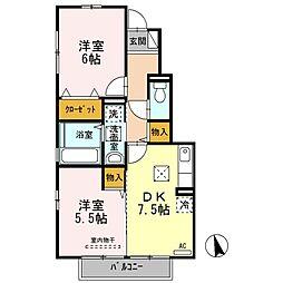 山口県下関市伊倉新町5丁目の賃貸アパートの間取り
