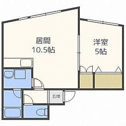 シングルコート南7条B棟[2階]の間取り