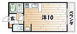 オリエンタル朝日ヶ丘[2階]の間取り