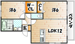 セジュール壱号館[1階]の間取り