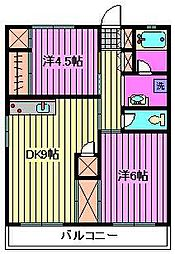 横溝ビル[4階]の間取り