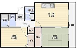 サニープラザ A棟[2階]の間取り