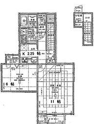 JR中央本線 国分寺駅 徒歩5分の賃貸アパート 2階1LDKの間取り