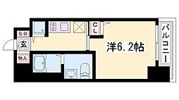 ファーストフィオーレ神戸元町 2階1Kの間取り