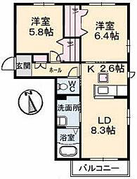 シャーメゾンフィオーレ[1階]の間取り