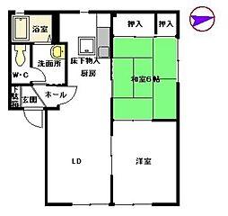 セゾン則松II A棟[A102号室]の間取り