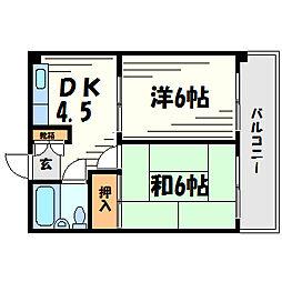 カーサ上甲子園[3階]の間取り