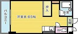 メゾン東武三萩野[502号室]の間取り