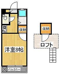 シャトレ隈II[1階]の間取り