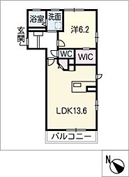 アルデンヌ B棟[2階]の間取り
