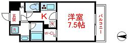 東武伊勢崎線 西新井駅 徒歩15分の賃貸マンション 1階1Kの間取り