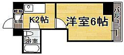 福岡県福岡市博多区下呉服町の賃貸マンションの間取り