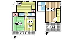 覚野ビル[5階]の間取り