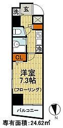 東京都千代田区外神田2丁目の賃貸マンションの間取り