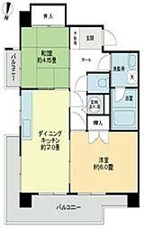 ライオンズマンション西新[503号室]の間取り