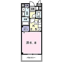 大阪府和泉市府中町の賃貸アパートの間取り