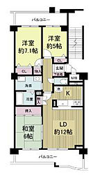KDXレジデンス夙川ヒルズ  (旧オクトス夙川)[5208号室]の間取り