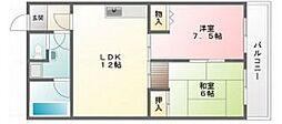 サンライフ東富井[2階]の間取り