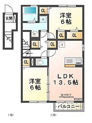 モナリエII[2階]の間取り