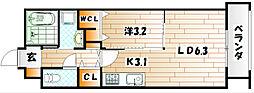 アヴァンセ井堀[1階]の間取り