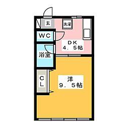 グランツハウスA[1階]の間取り