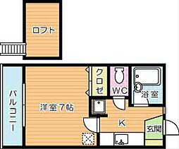 ロフティ24[2階]の間取り