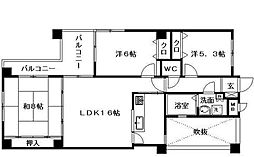 エステートマンション大濠グランディール[3階]の間取り