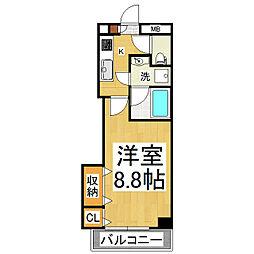 ブレインマンションK5[2階]の間取り