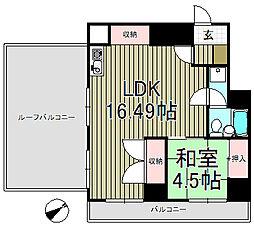 ペルソナージュ横浜[6階]の間取り