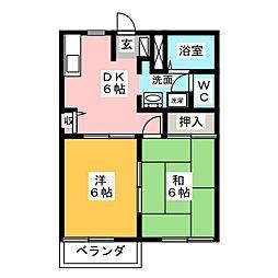 グレースマンションB[2階]の間取り