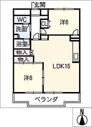 コンフォート若草[3階]の間取り