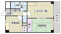 大阪府大阪市鶴見区安田3丁目の賃貸マンションの間取り
