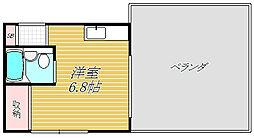 白鳥マンション[3階]の間取り