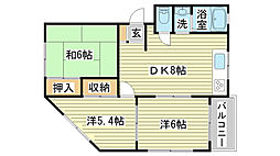 東新町BLDⅢ[202号室]の間取り