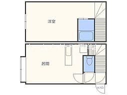 Uレジデンス澄川[1階]の間取り