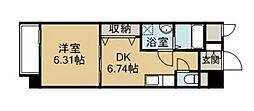 IMASA・MORUGEN壱番館 7階1DKの間取り