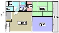 ルアージュ[1階]の間取り