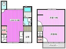 [一戸建] 奈良県大和高田市日之出西本町 の賃貸【/】の間取り