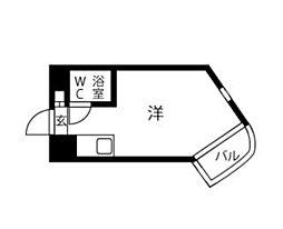 プレスイン金山[3-C号室]の間取り