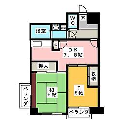 多賀城ロジュマンG棟[13階]の間取り