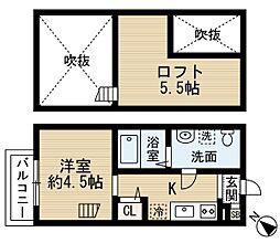 CREST COURT鷹取(クレストコート鷹取)[2階]の間取り