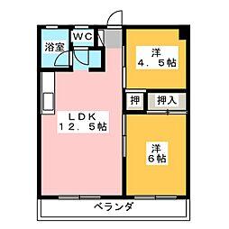 OS・SKYマンション城下[3階]の間取り