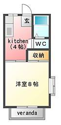 草川ハイツ[2階]の間取り
