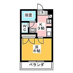 ピュアコート[1階]の間取り